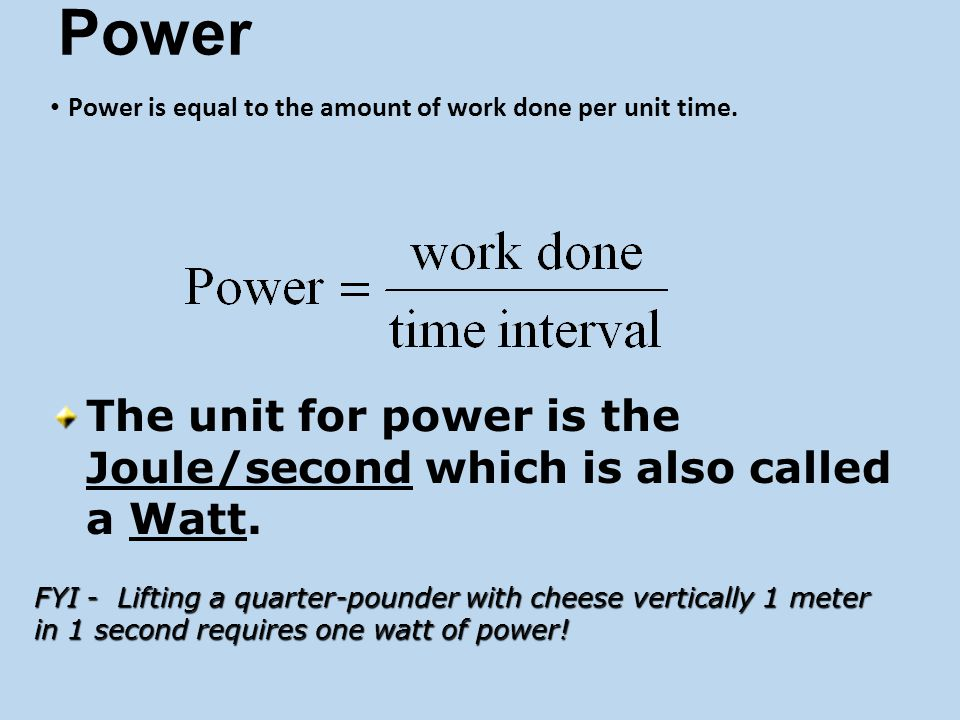 Kinetic Energy  If velocity doubles…..KE is quadrupled…takes 4 times the work to double the speed  If velocity triples….KE is 9 times as much…takes 9 times the work to triple the speed  What is the KE of a 1000g car moving at 20m/s.