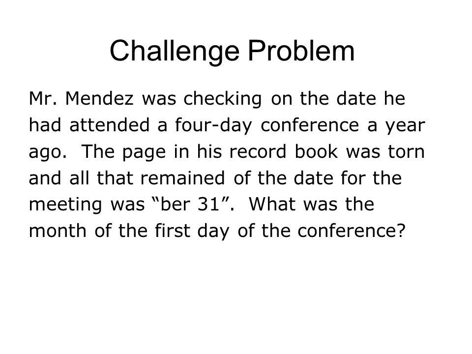 Challenge Problem Mr.