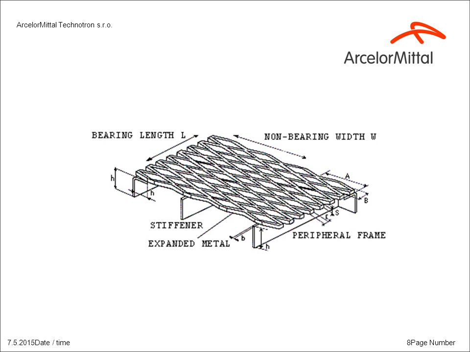 ArcelorMittal Technotron s.r.o. 8Page Number7.5.2015Date / time