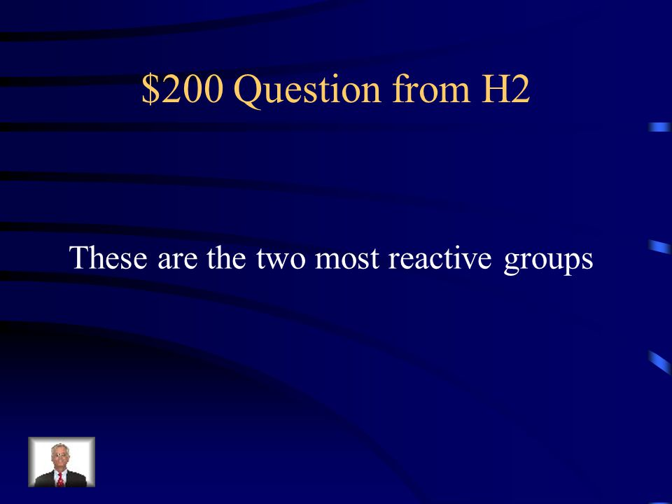 $100 Answer from H2 Noble Gases
