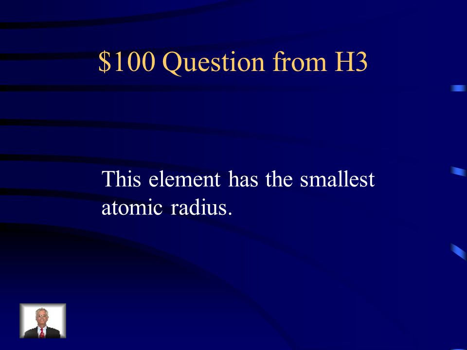 $500 Answer from H2 Alkali Metals