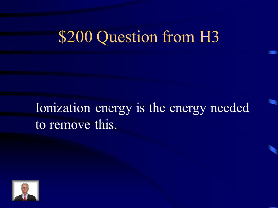 $100 Answer from H3 helium