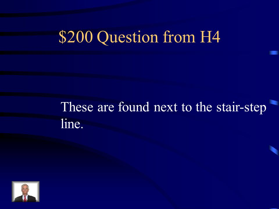 $100 Answer from H4 Stair-step line