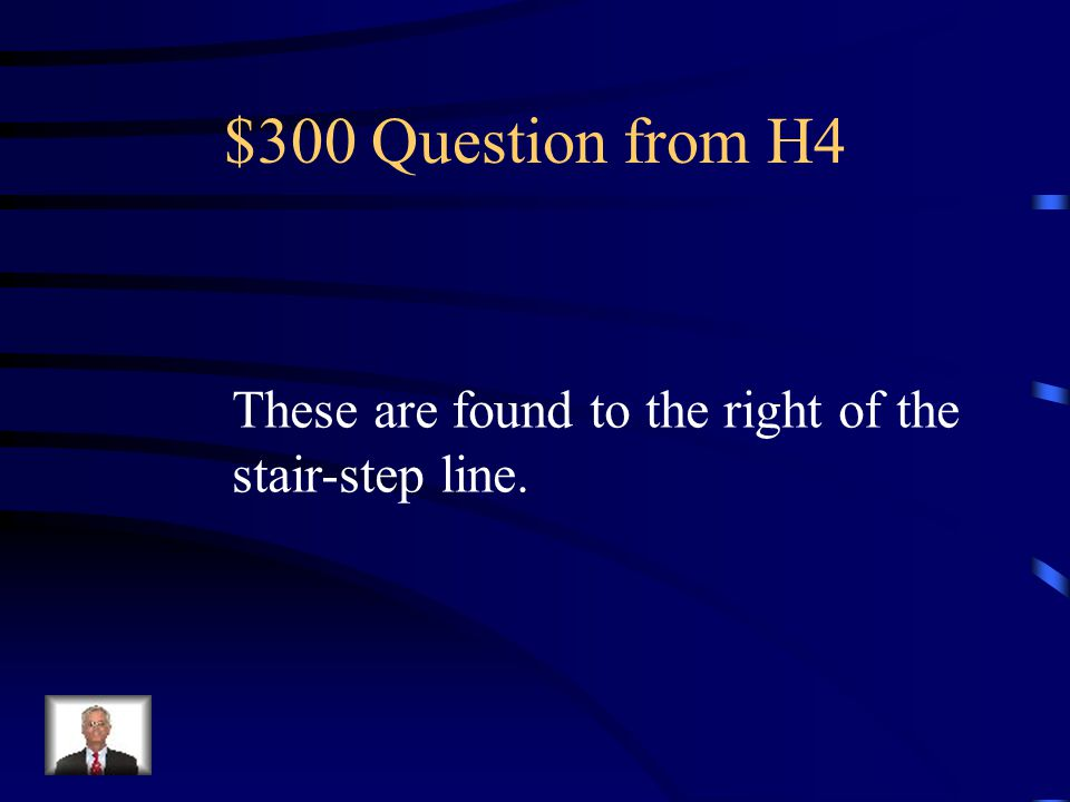 $200 Answer from H4 metalloids