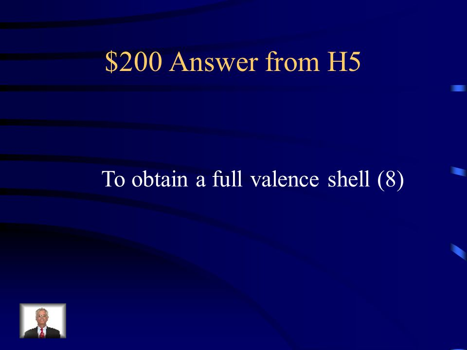 $200 Question from H5 This is the reason atoms become ions.
