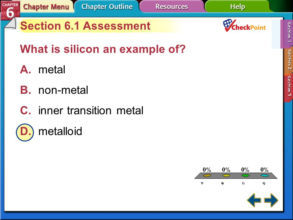 A.A B.B C.C D.D Section 6-1 Section 6.1 Assessment What is a row of elements on the periodic table called.