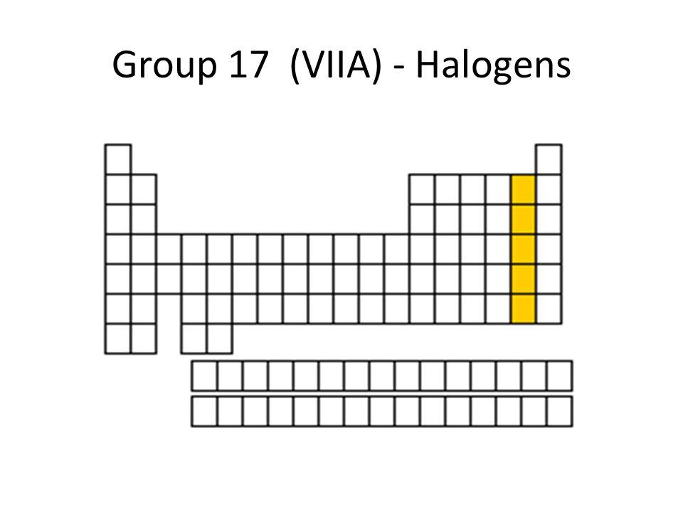 Group 17 (VIIA) - Halogens