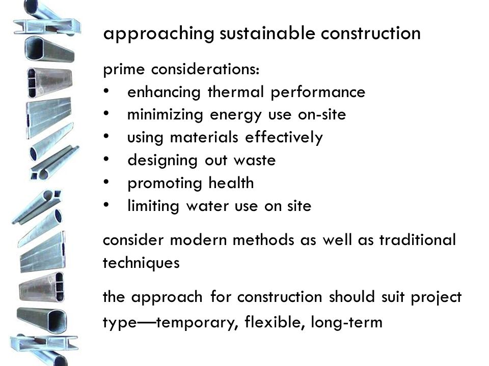 binder assignment: Section 7—Construction Techniques Create an overview of the elements of your structure and how they will be constructed.