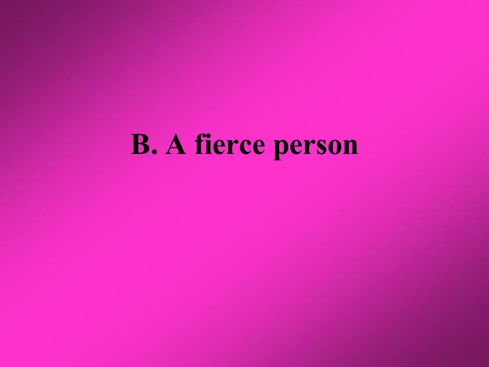 B. A fierce person