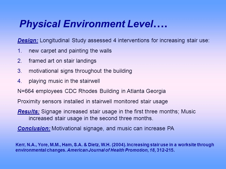 Physical Environment Level ….
