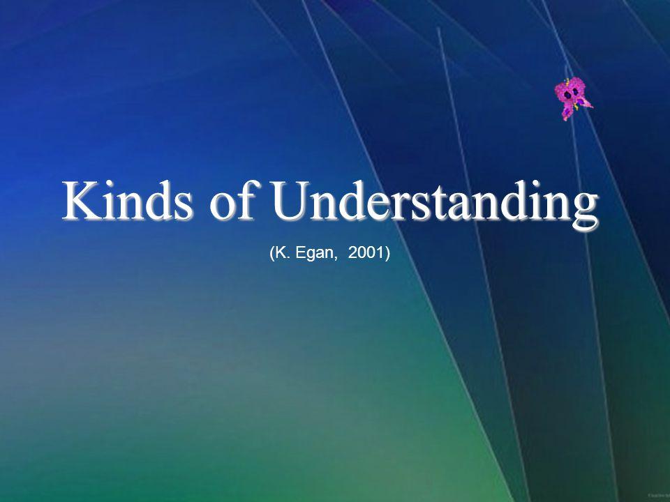 Kinds of Understanding (K. Egan, 2001)