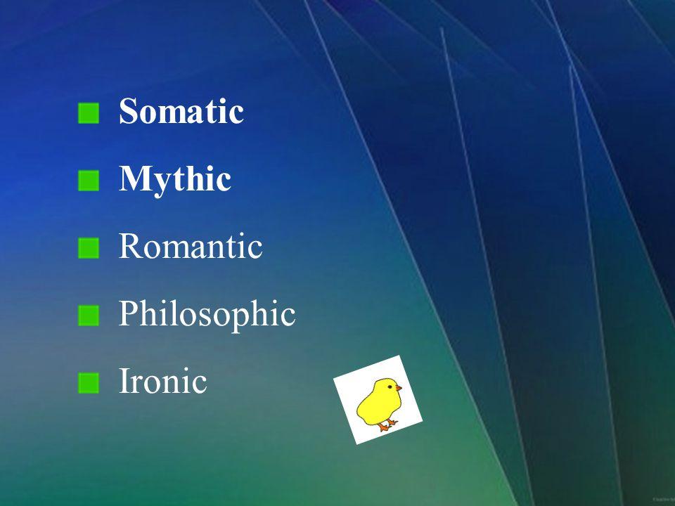 Somatic Mythic Romantic Philosophic Ironic