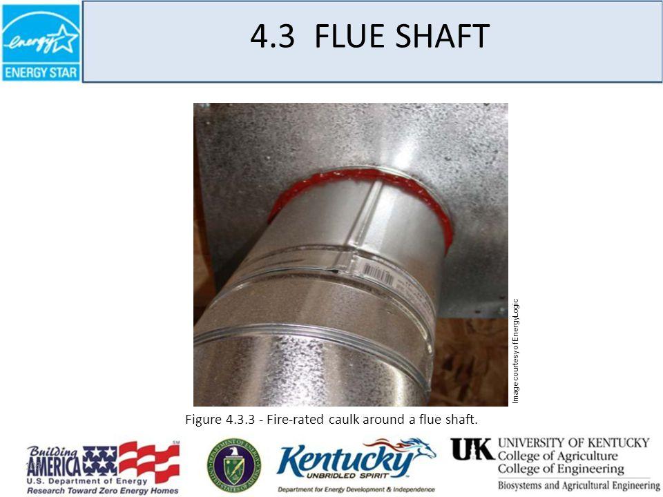 103 4.3 FLUE SHAFT Figure 4.3.3 - Fire-rated caulk around a flue shaft.