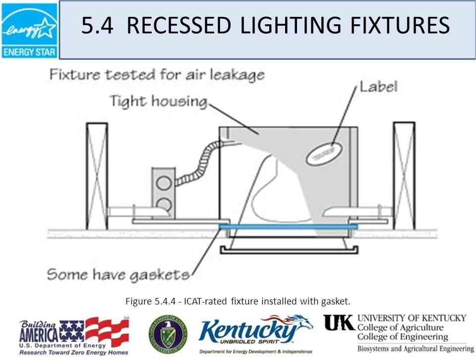 122 5.4 RECESSED LIGHTING FIXTURES Figure 5.4.4 - ICAT-rated fixture installed with gasket.