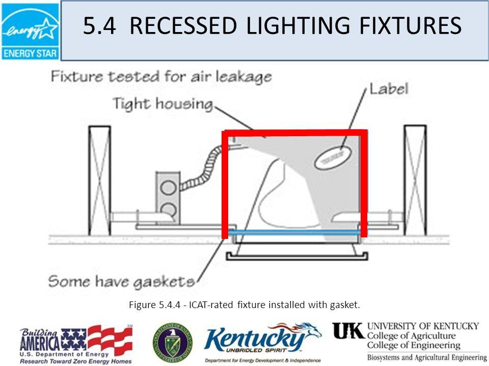 123 5.4 RECESSED LIGHTING FIXTURES Figure 5.4.4 - ICAT-rated fixture installed with gasket.