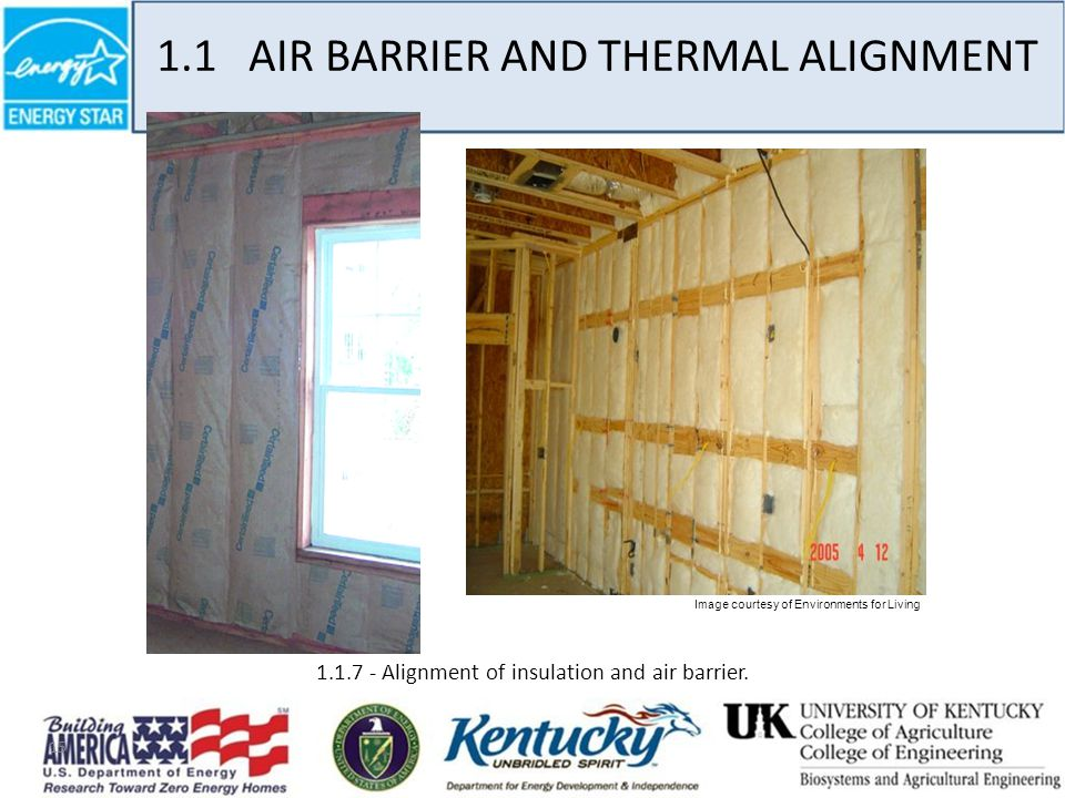 15 1.1.7 - Alignment of insulation and air barrier.