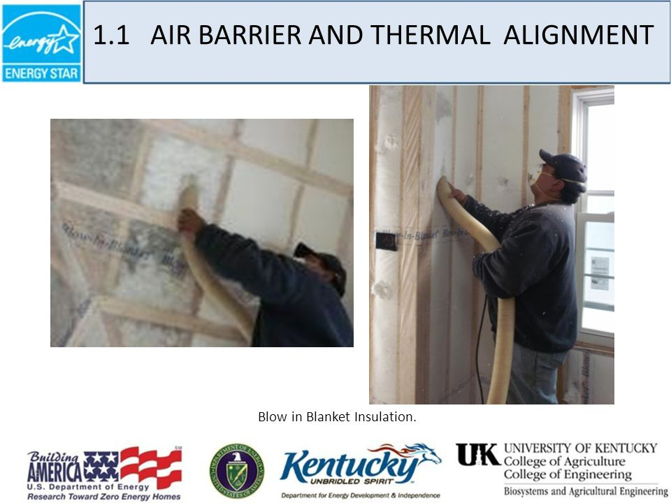 19 Blow in Blanket Insulation. 1.1 AIR BARRIER AND THERMAL ALIGNMENT