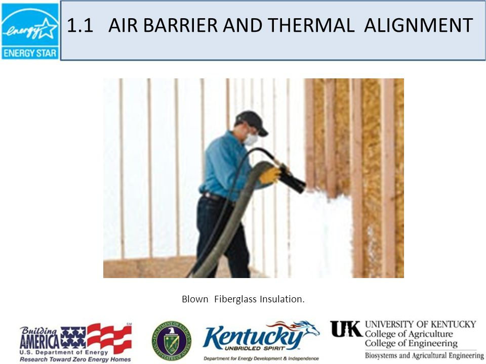 20 Blown Fiberglass Insulation. 1.1 AIR BARRIER AND THERMAL ALIGNMENT