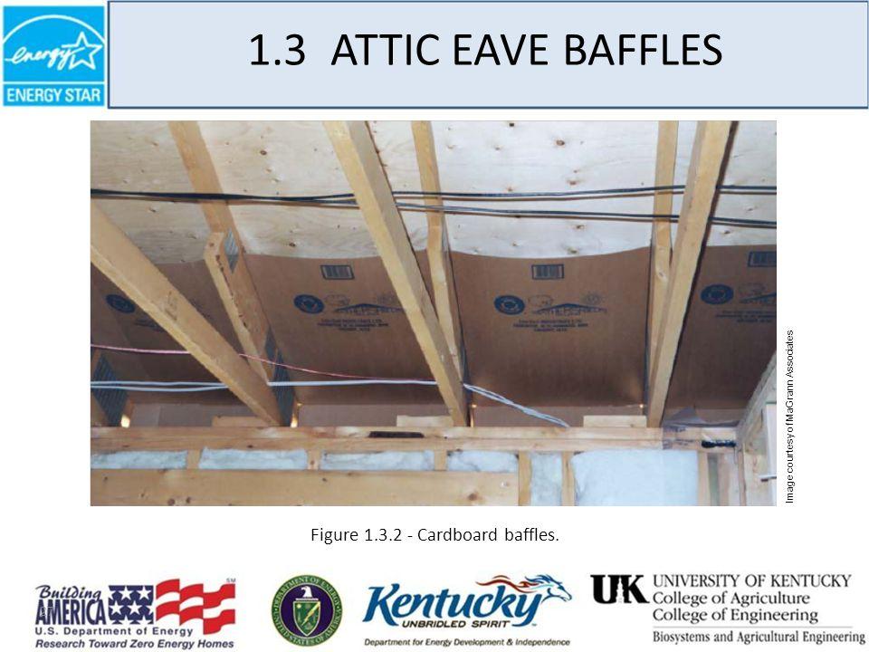27 1.3 ATTIC EAVE BAFFLES Figure 1.3.2 - Cardboard baffles. Image courtesy of MaGrann Associates
