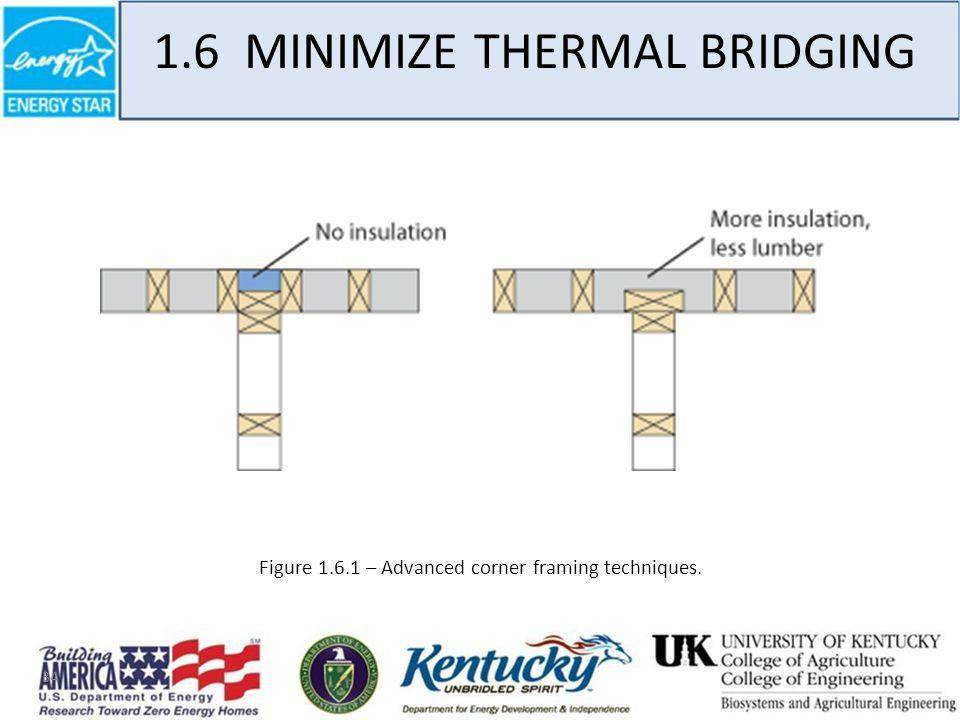 34 1.6 MINIMIZE THERMAL BRIDGING Figure 1.6.1 – Advanced corner framing techniques.