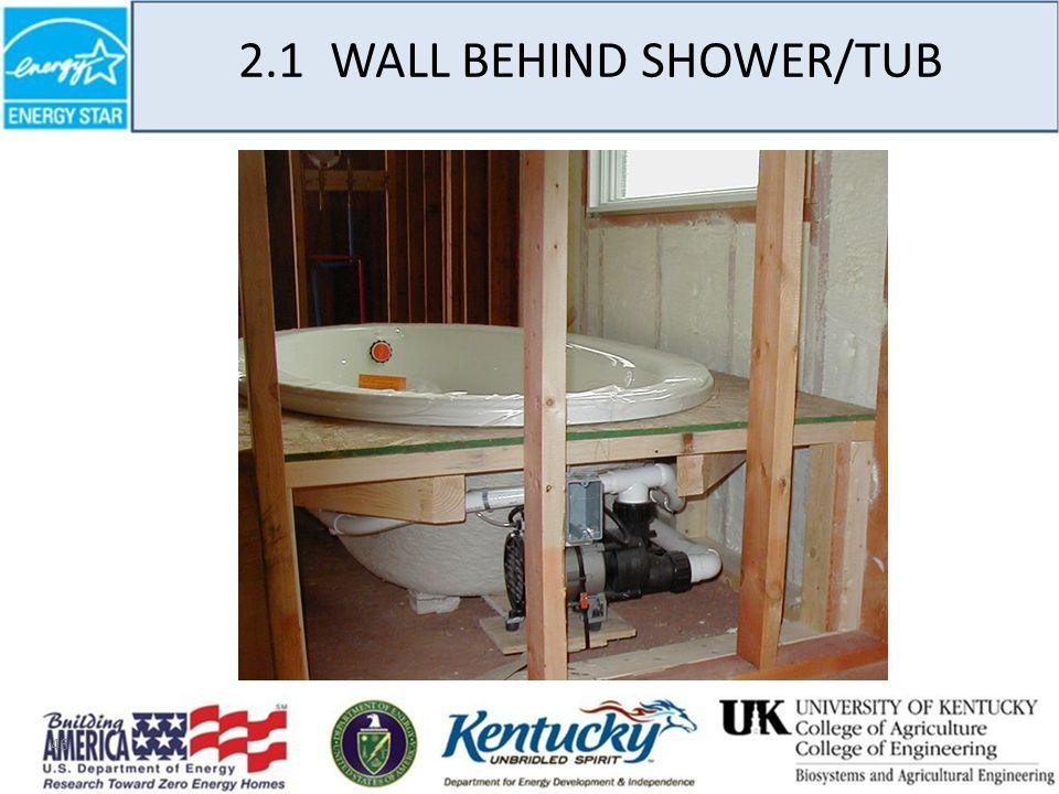 46 2.1 WALL BEHIND SHOWER/TUB