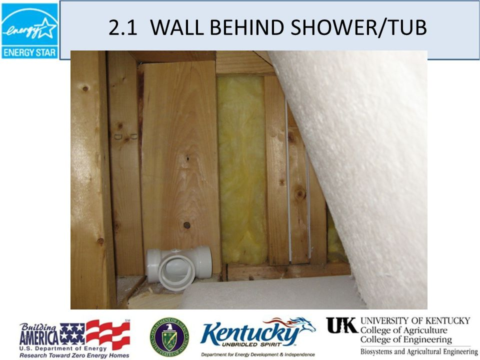 47 2.1 WALL BEHIND SHOWER/TUB
