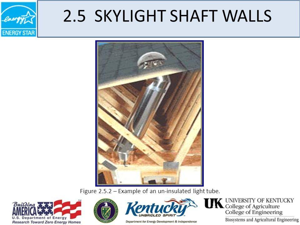 66 2.5 SKYLIGHT SHAFT WALLS Figure 2.5.2 – Example of an un-insulated light tube.