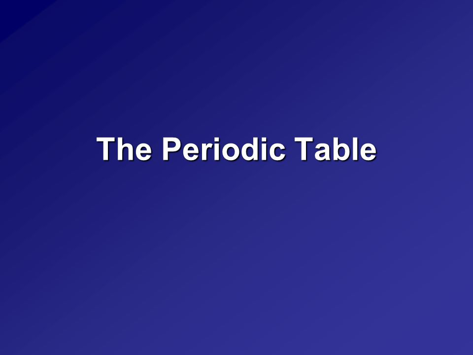 Describing the Periodic Table Elements are only made up of one type of atom.