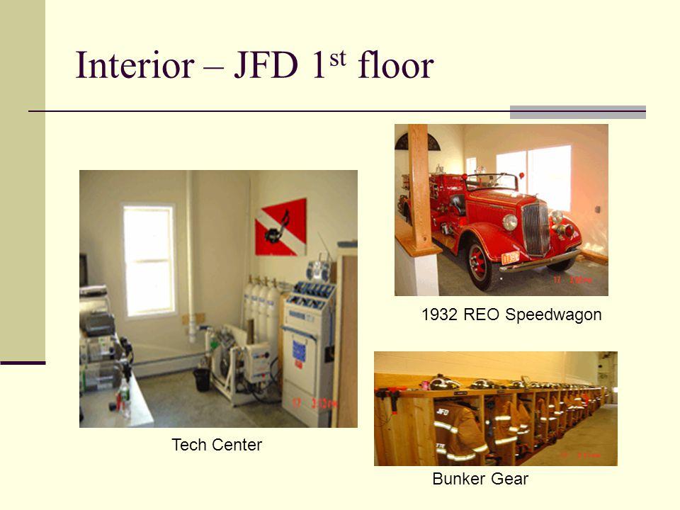 Interior – JFD 1 st floor Tech Center Bunker Gear 1932 REO Speedwagon