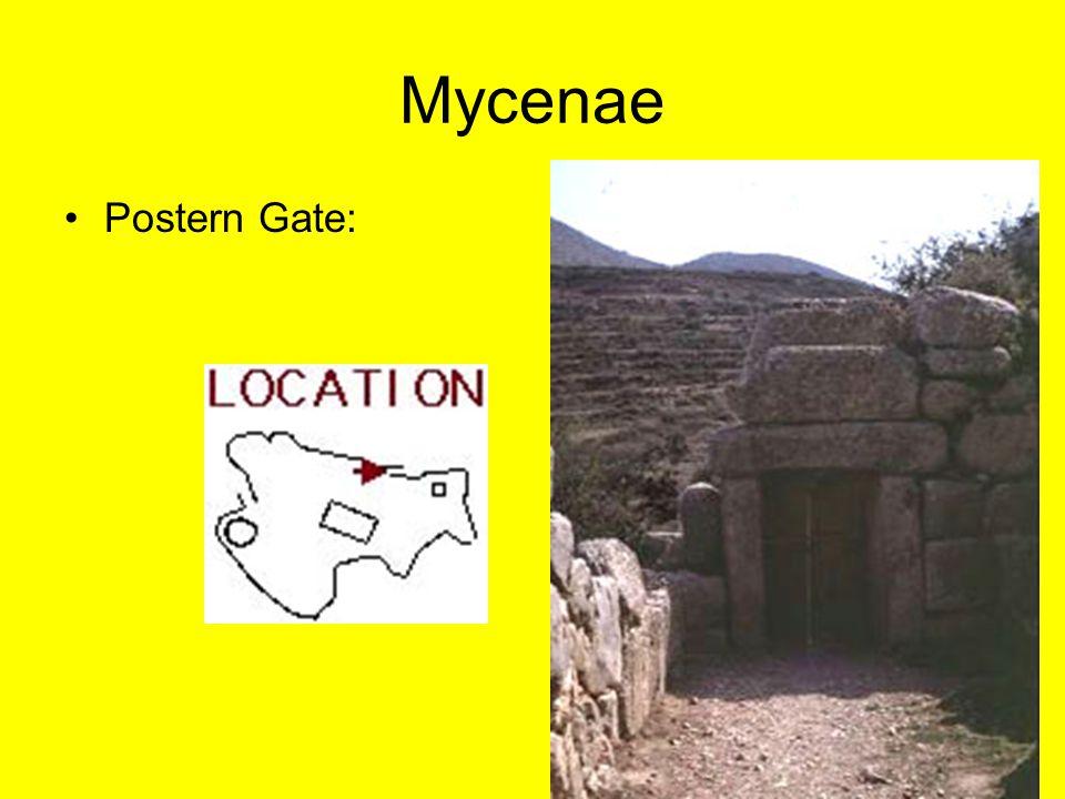 Mycenae Postern Gate: