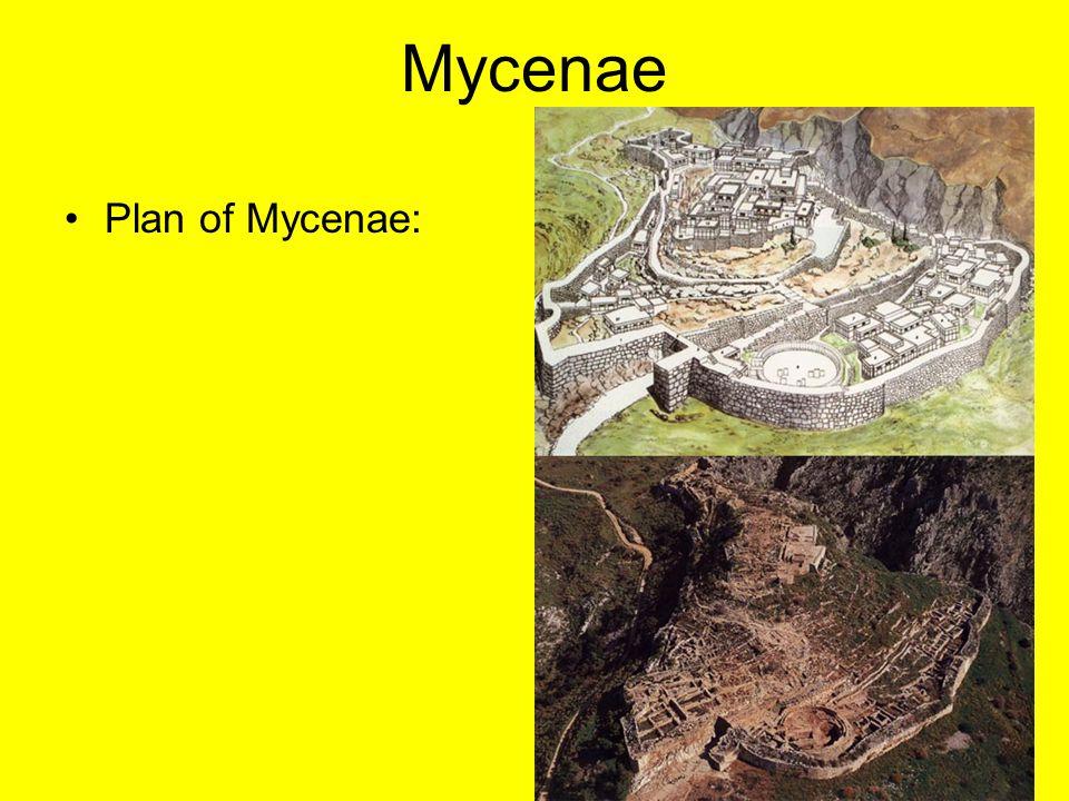 Mycenae Plan of Mycenae: