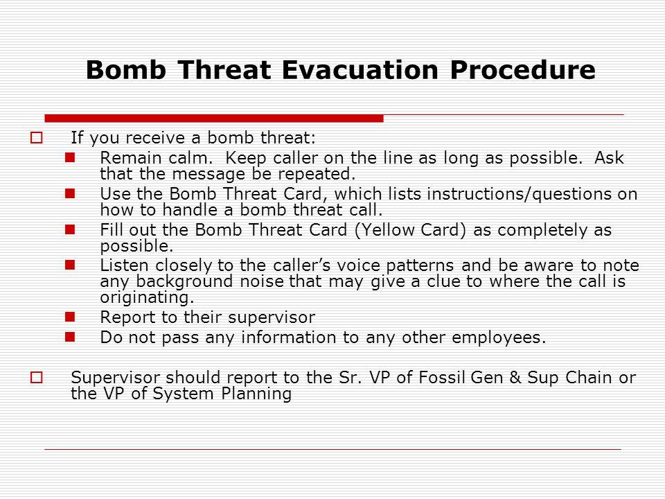 Timberloch Evacuation Map