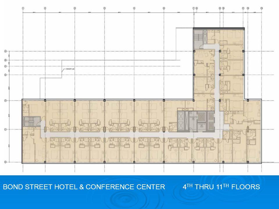 BOND STREET HOTEL & CONFERENCE CENTER 4 TH THRU 11 TH FLOORS