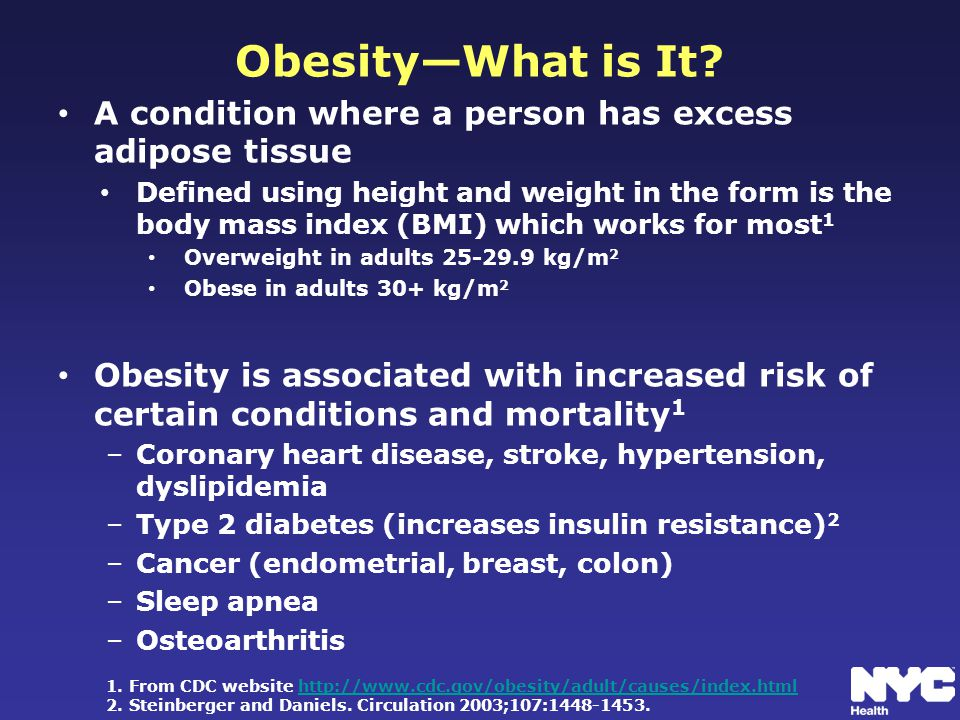 Obesity—What is It.