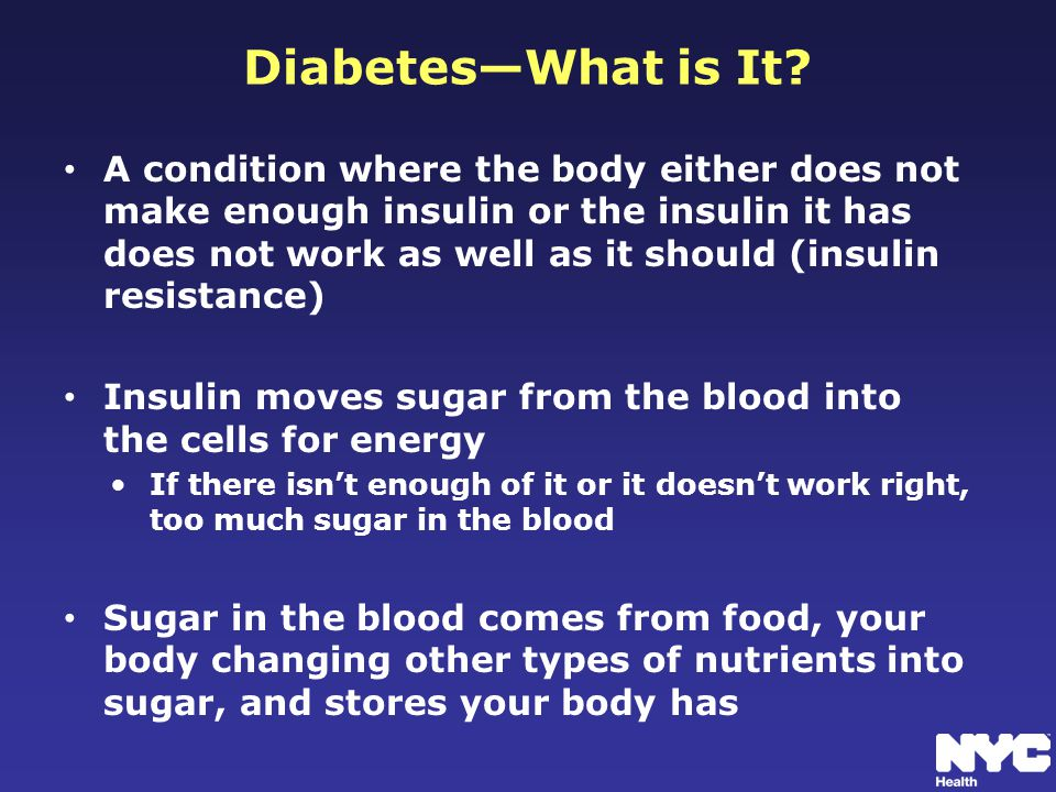Diabetes—What is It.