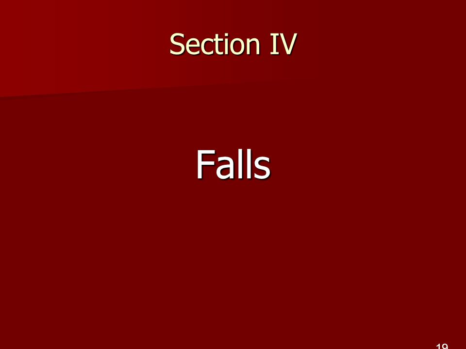 Section IV Falls 19