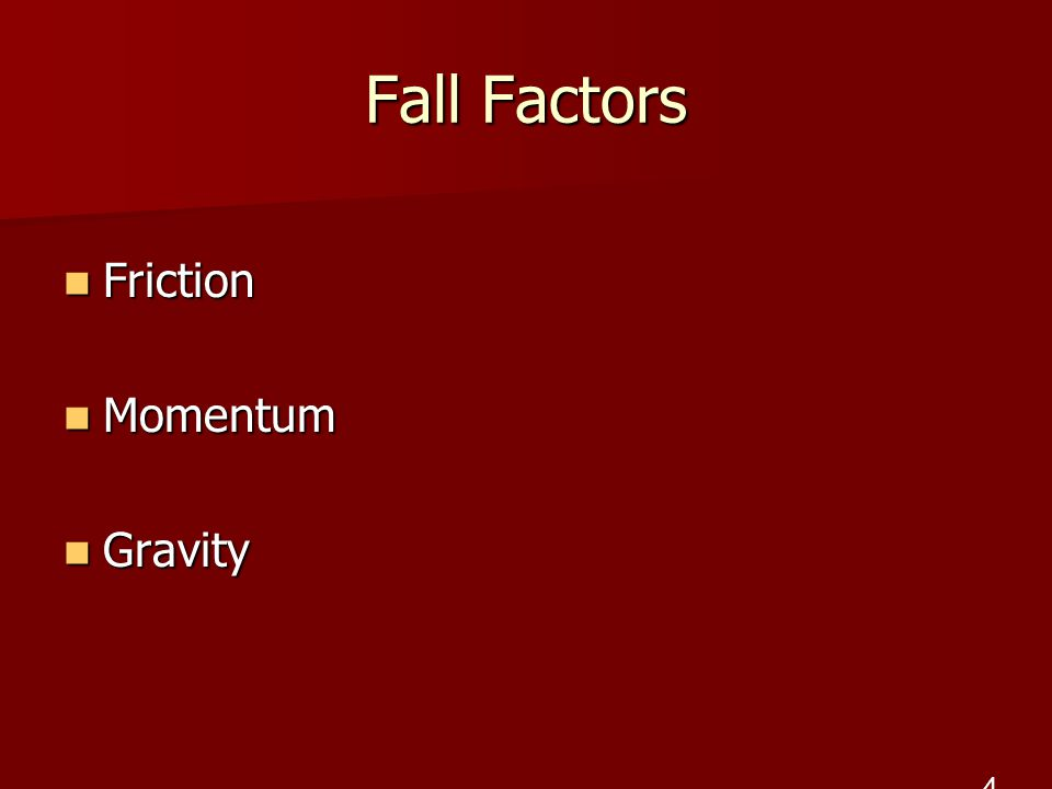 Fall Factors Friction Momentum Gravity 4