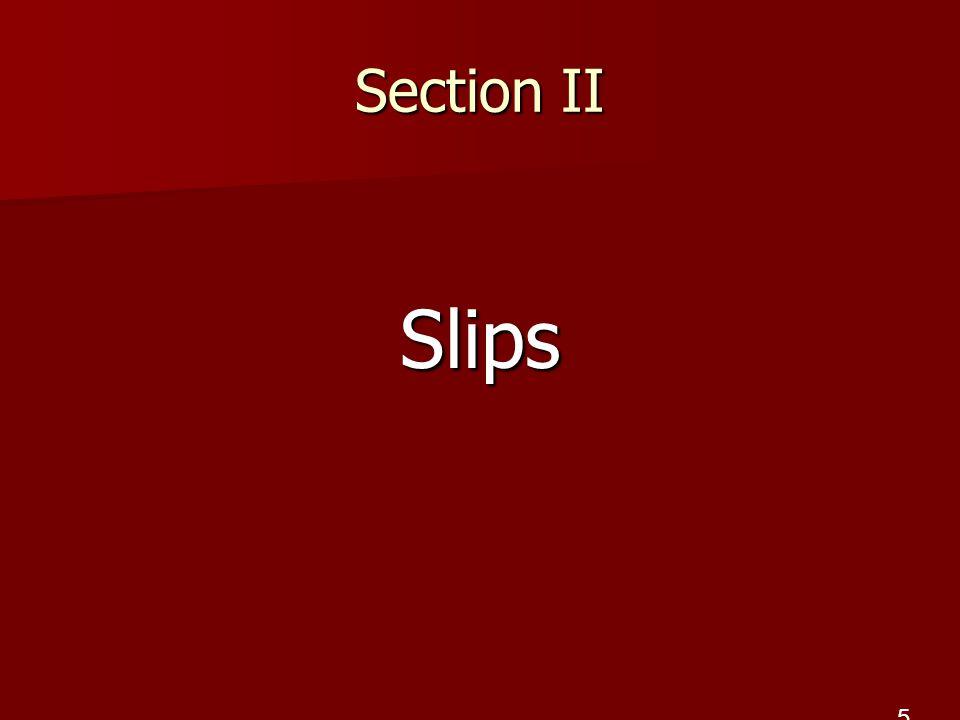 Section II Slips 5