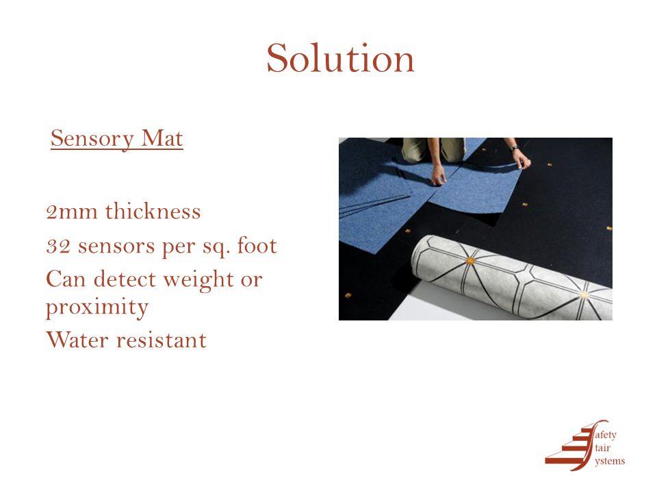 Solution 2mm thickness 32 sensors per sq.