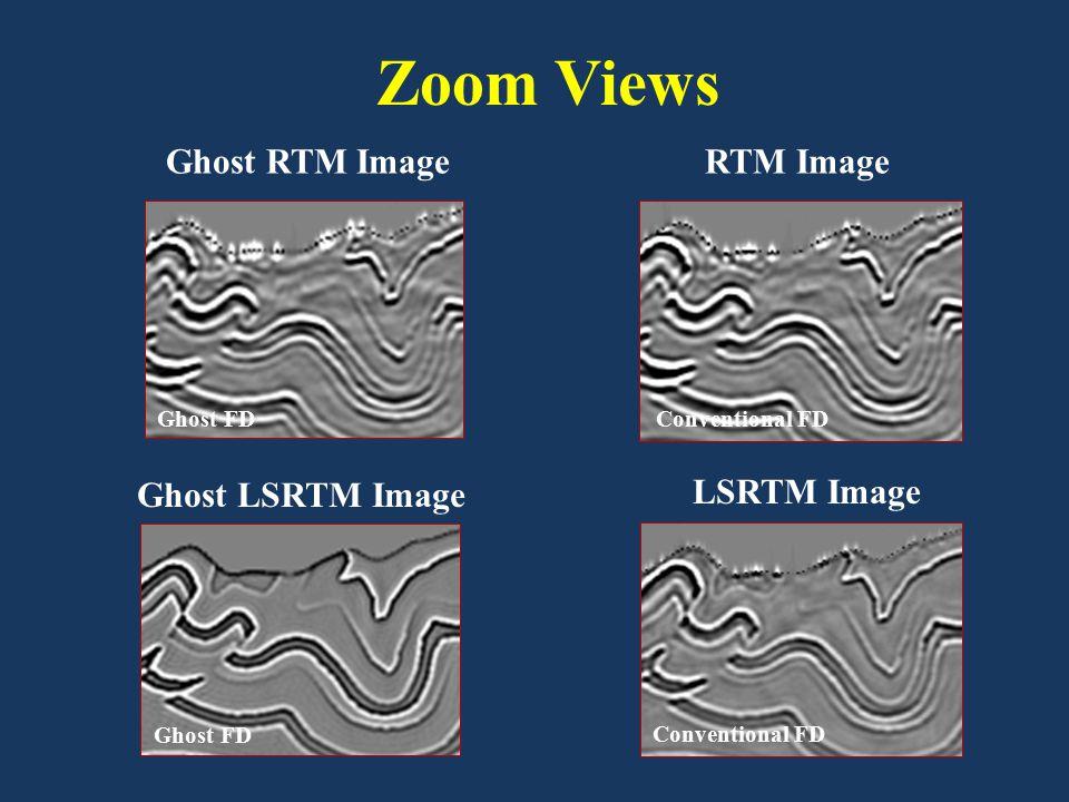 Ghost LSRTM Image LSRTM Image Ghost FD Ghost RTM Image Conventional FD RTM Image Conventional FD Zoom Views