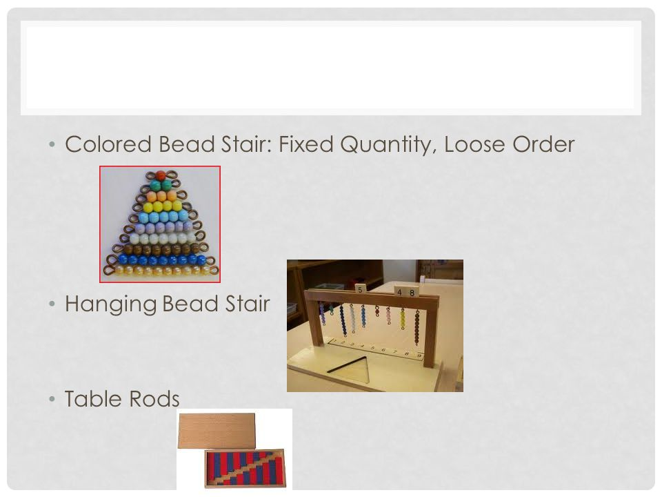 Colored Bead Stair: Fixed Quantity, Loose Order Hanging Bead Stair Table Rods