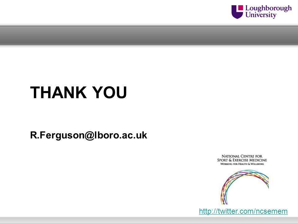 THANK YOU R.Ferguson@lboro.ac.uk http://twitter.com/ncsemem