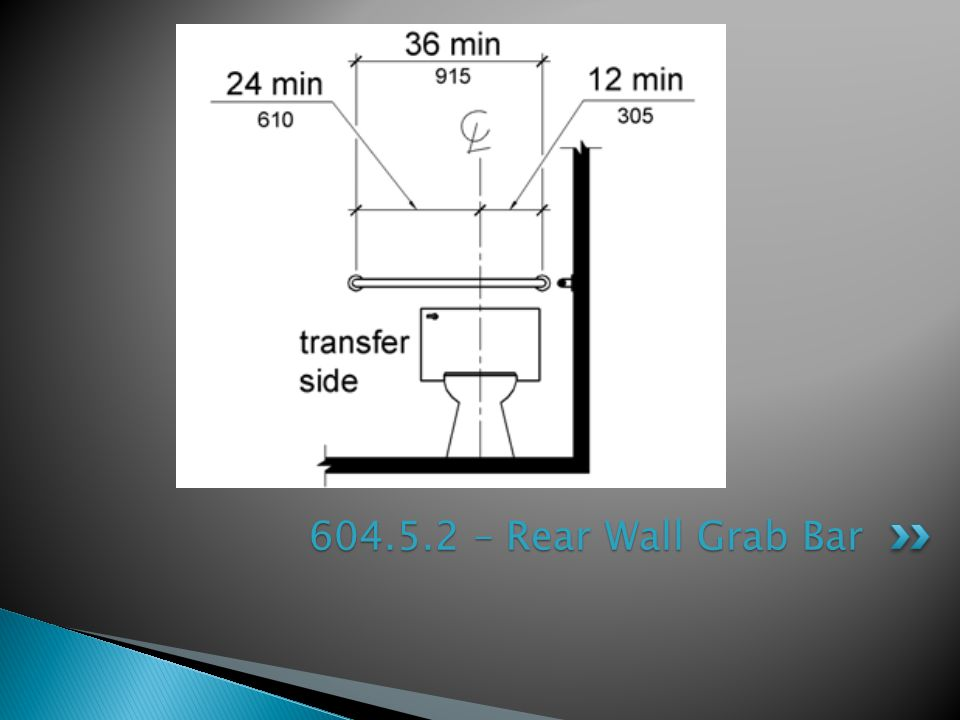 604.5.2 – Rear Wall Grab Bar
