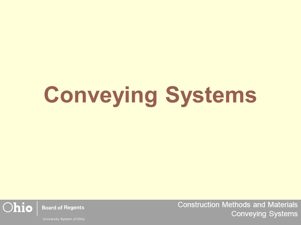 Construction Methods and Materials Conveying Systems Electric Traction Elevators Electric elevators are operated by traction machines.