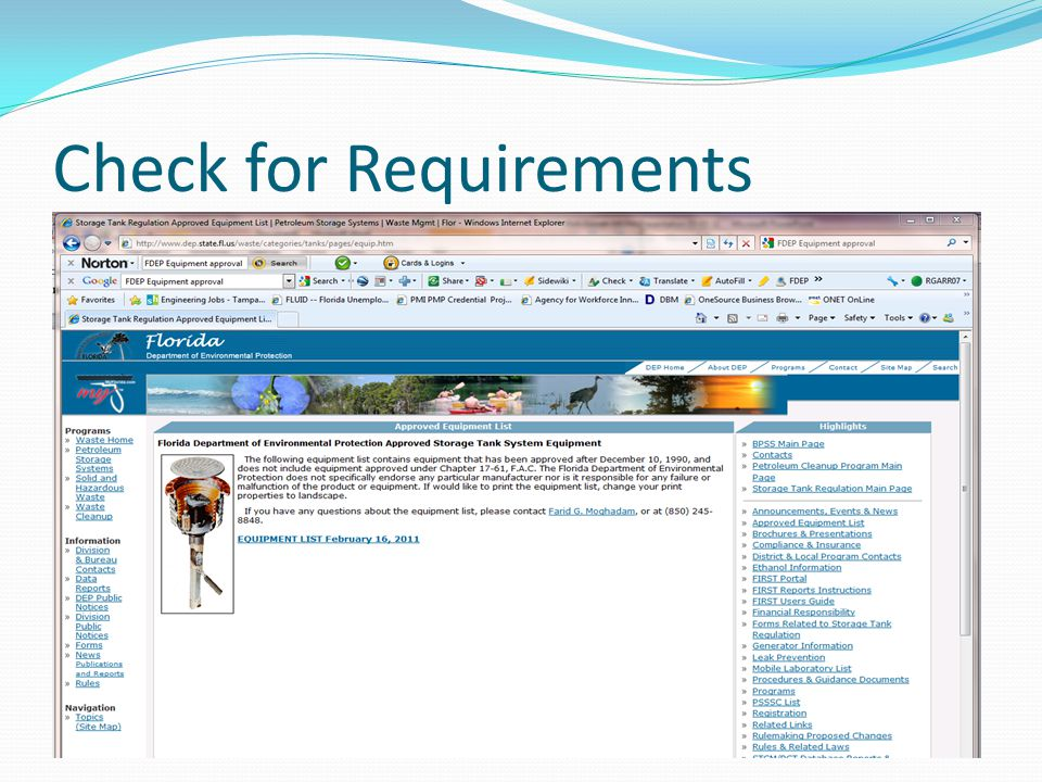 Check for Requirements