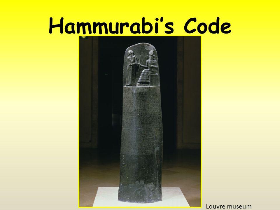 Hammurabi's Code Louvre museum