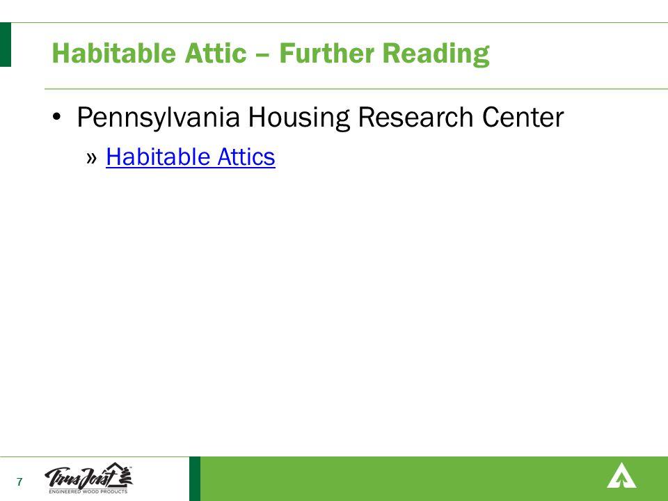 Habitable Attic – Further Reading Pennsylvania Housing Research Center » Habitable Attics Habitable Attics 7