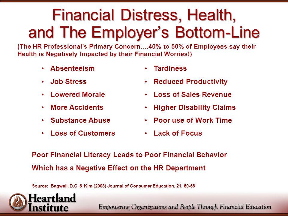One in three workers report that money worries often hamper job performance.