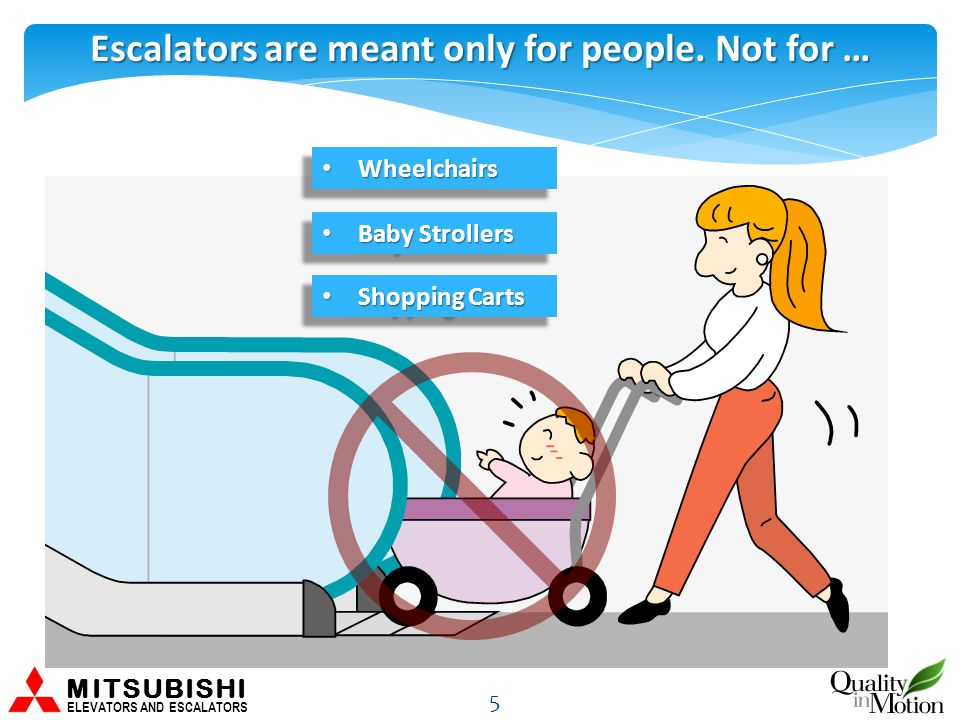 Escalators are meant only for people.