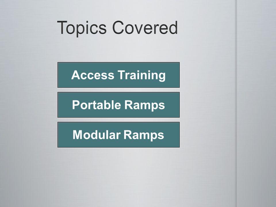 Portable Ramps Modular Ramps Access Training